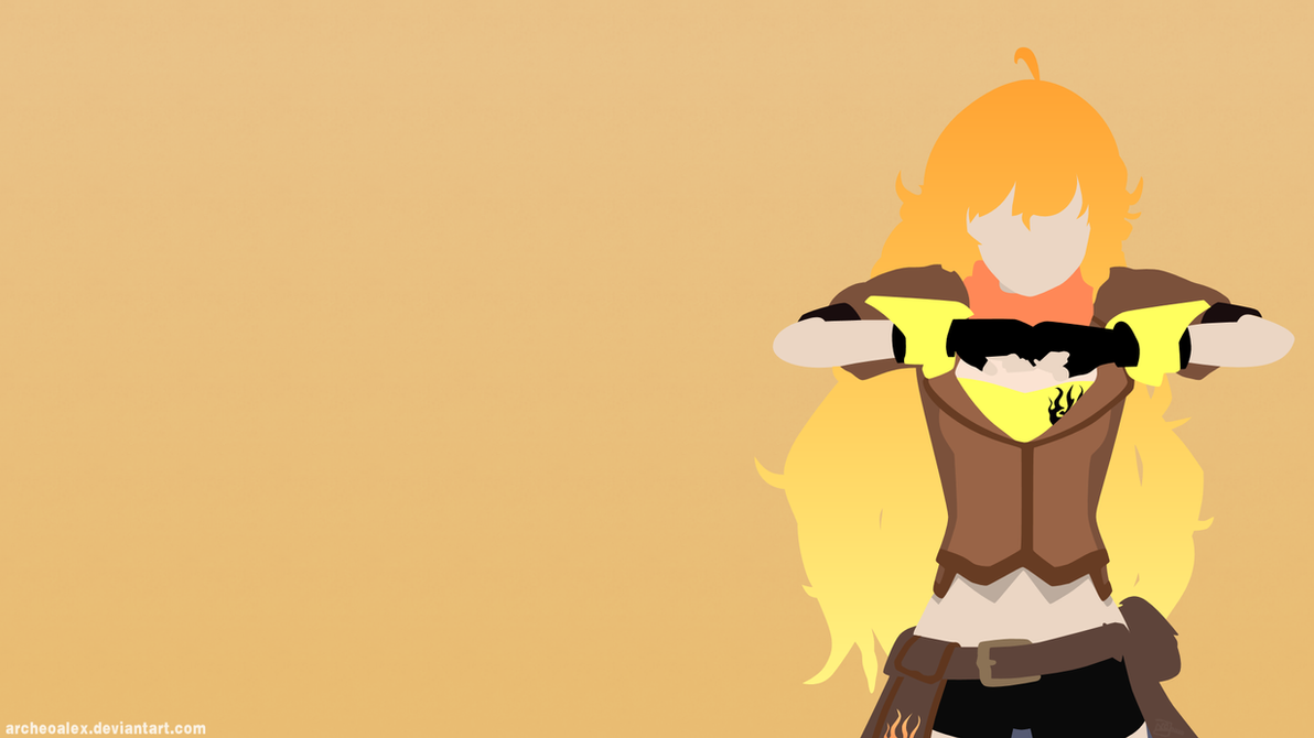 RWBY Yang Xiao Long Minimalist Wallpaper 596157060 on cosplay rwby vol 4