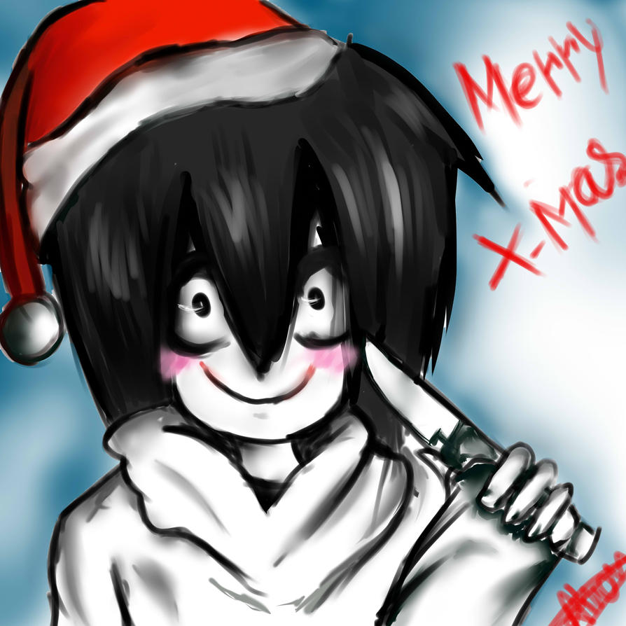 Jeff the killer X-mas wallpaper by floriyon
