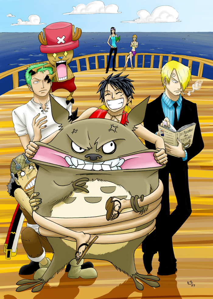 Evil_Totoro_meets_One_Piece_by_Kotszok