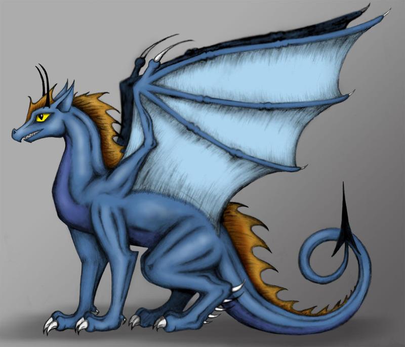 Blue Dragon by Wereducky