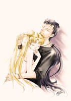 Seiya and Usagi by E-f-e-u