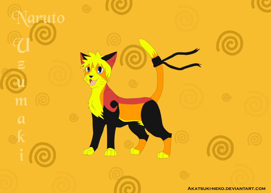 Naruto Cat by Akatsuki-Neko by CharactersAsAnimalsNaruto Characters As Animals