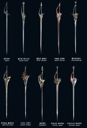 Rapiers from a game by RaynethLion