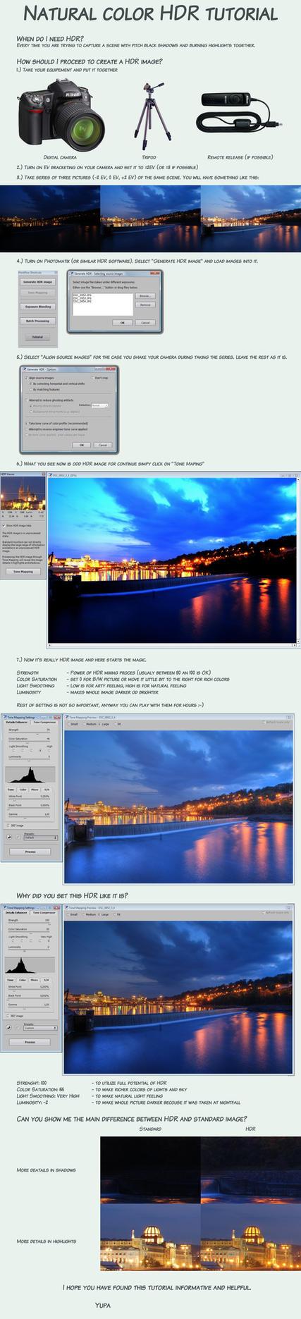 Natural color HDR tutorial by Yupa