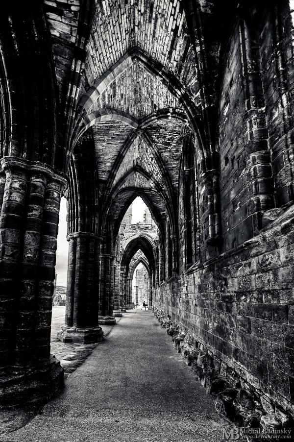Whitby Abbey - corridor by Yupa