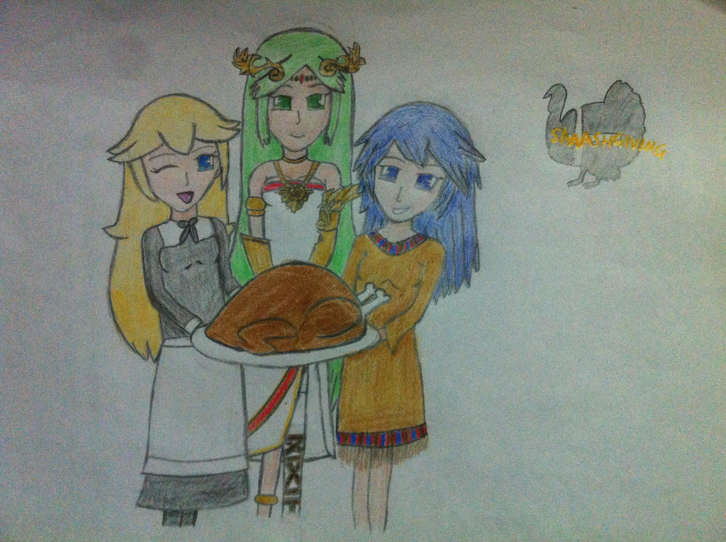 Smashgiving (3 maidens) by RinnyRobin