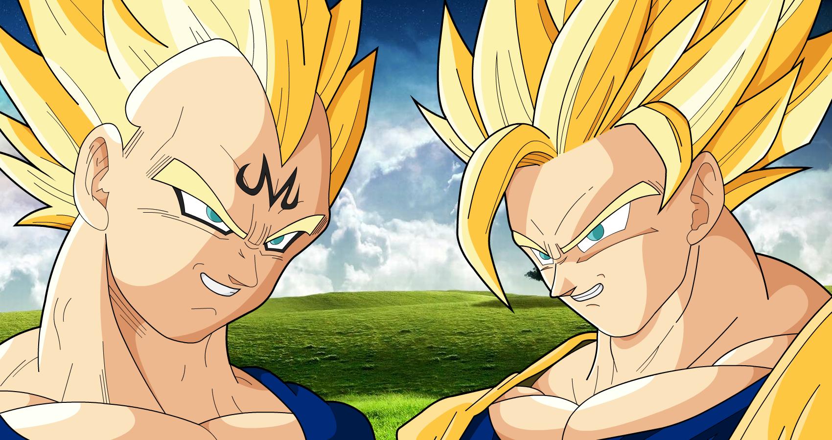 Images of Goku Ssj2 Vs Majin Vegeta - #rock-cafe