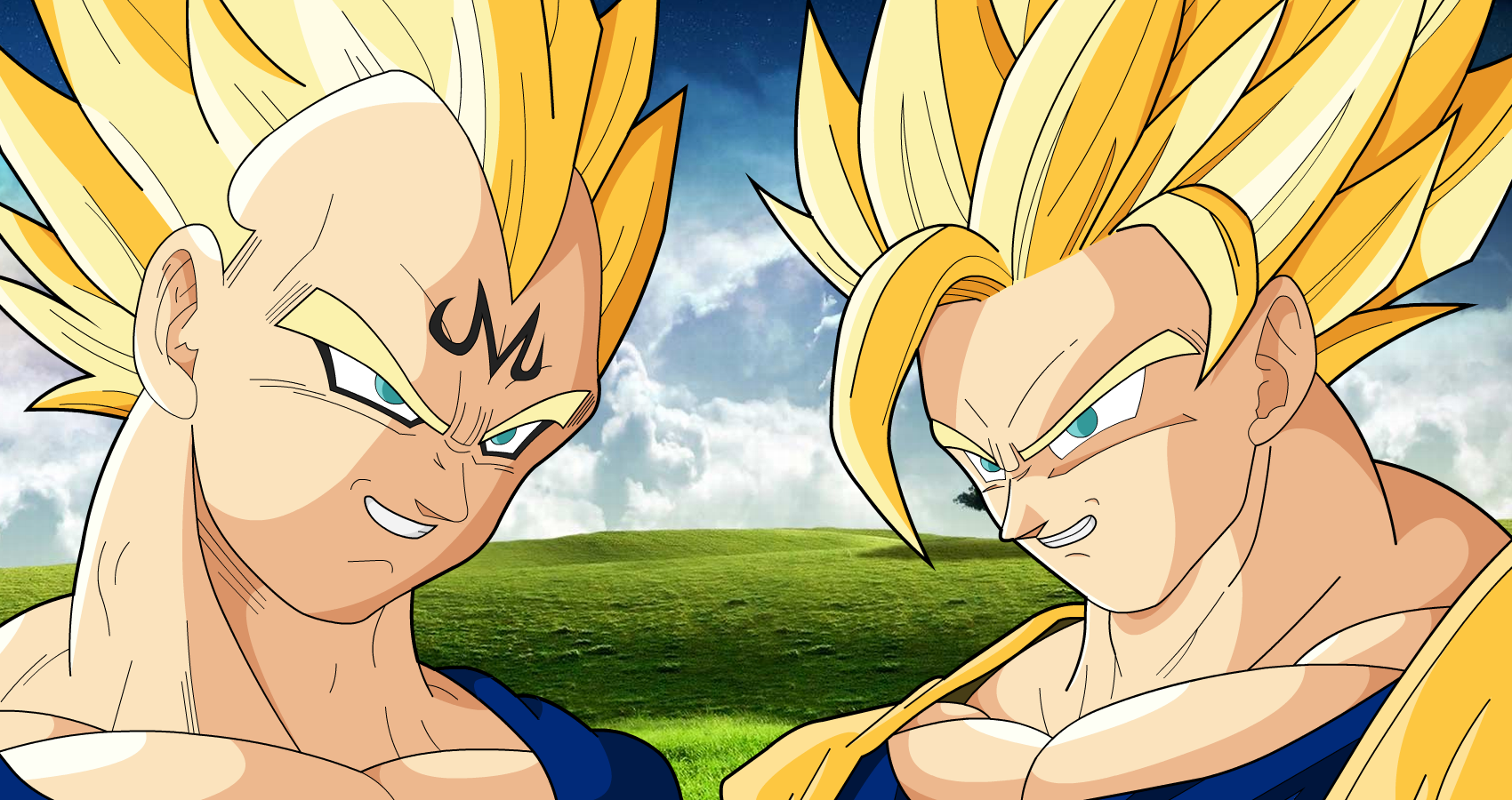 Majin Vegeta and Goku SSJ2 by MrGekon on DeviantArt