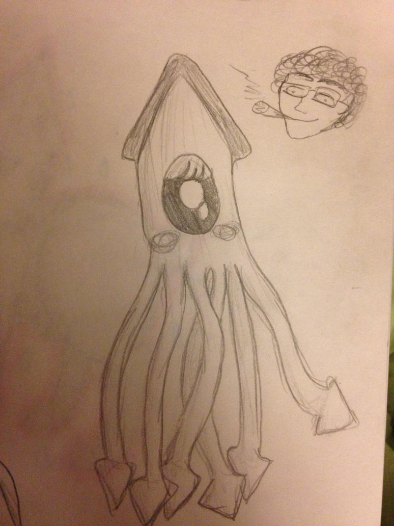 Squid Infiltrated by Man Smoking Da Dank Weed by Lexxi-Rose