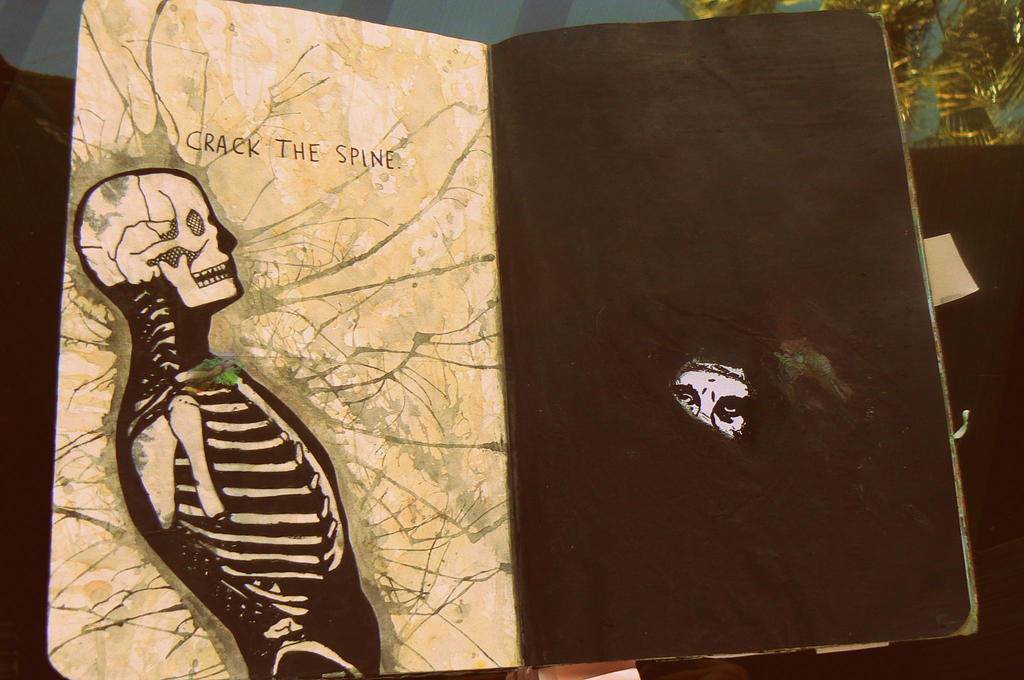 Wreck this Journal - crack the spine by d0kid0ki