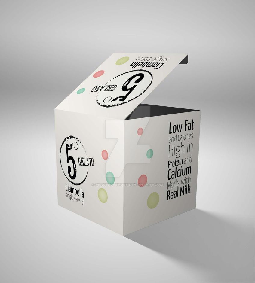 5 degrees Gelato Packaging by PeacefulSmurf