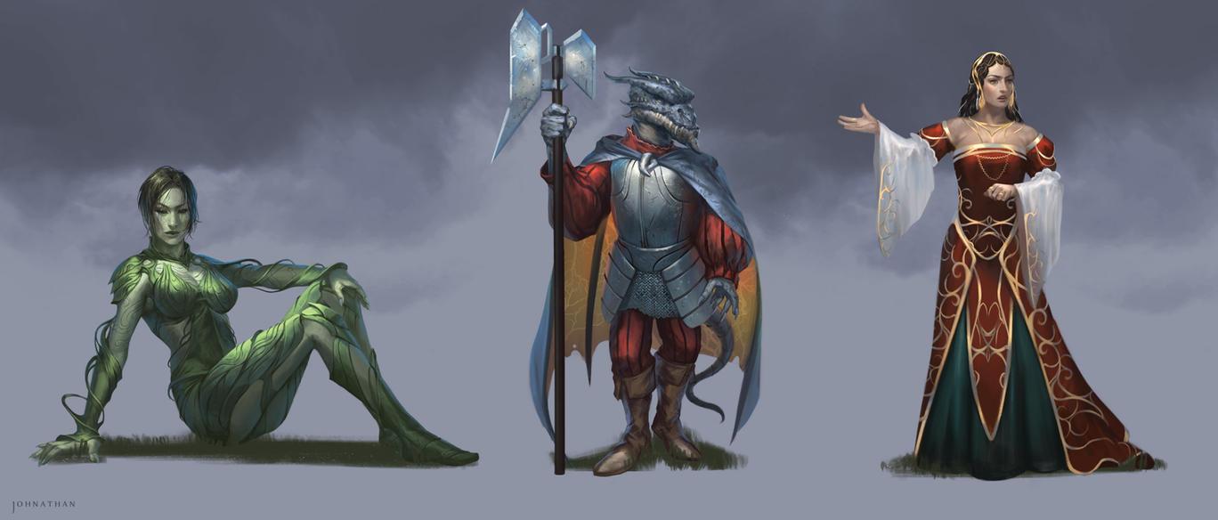 Sustina Saga Characters 2 by JohnathanChong