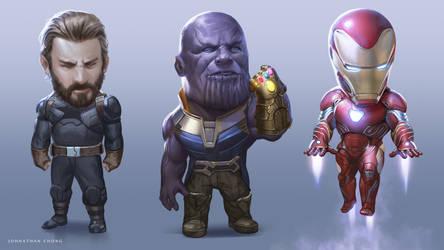 Big Head Avengers (BHA) by JohnathanChong