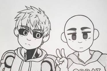 Genos and Saitama by MarshmallowBreeze