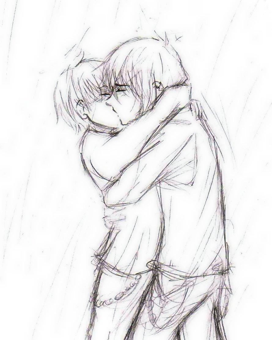 Couple kissing Drawings