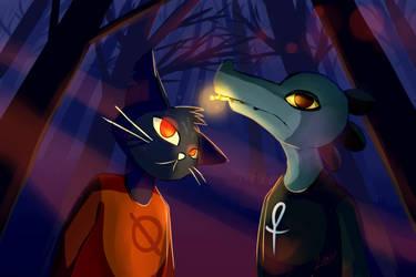 Night In The Woods: Mae and Bea by NinjaZula