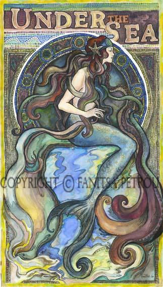 Under the Sea - a Mermaid by fanitsafantasy
