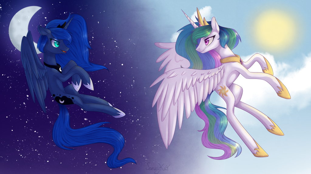 how to draw princess celestia and princess luna