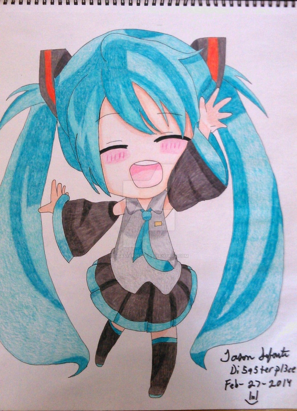 hatsune miku chibi speed draw by di5a5terp13ce on