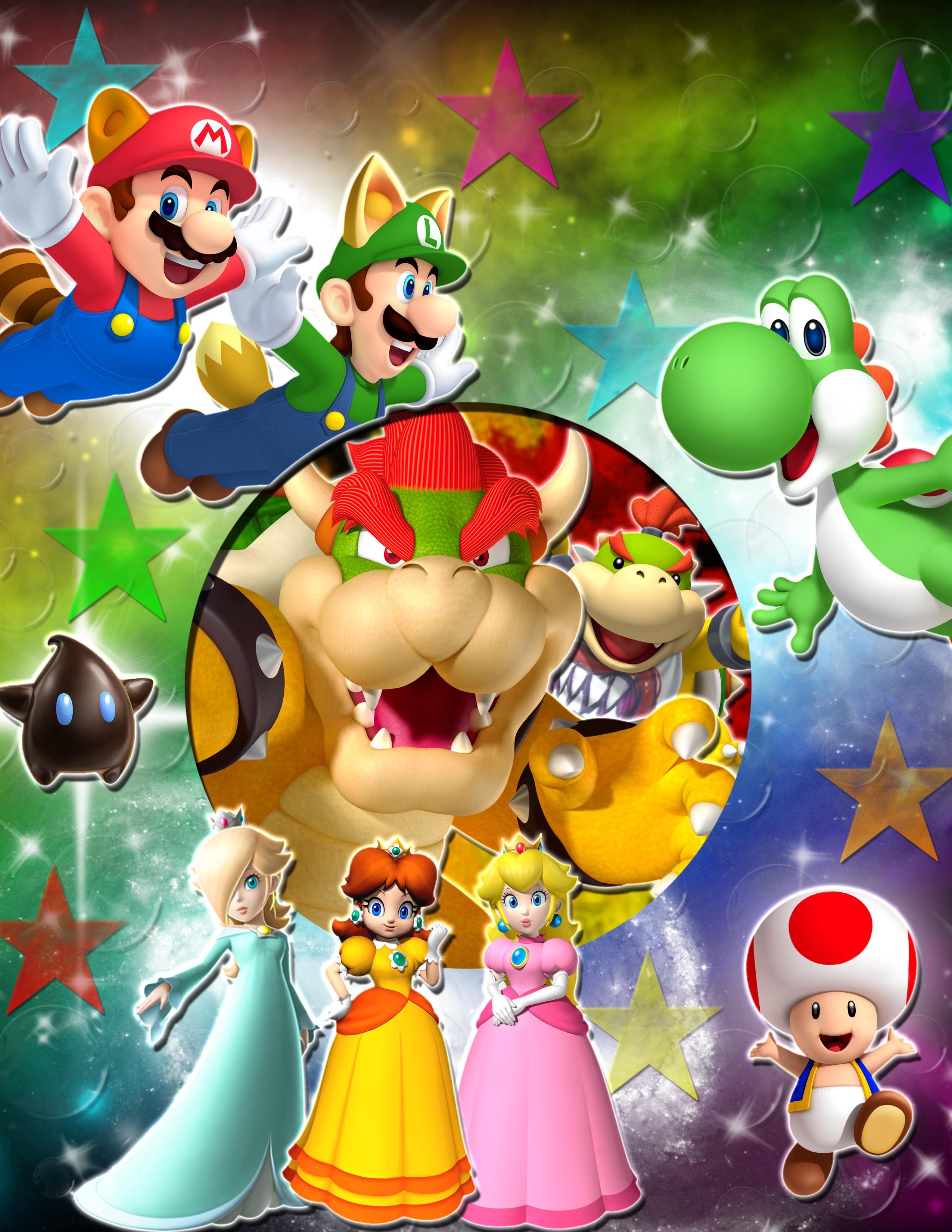A Huge Mario Characters Background by YoshiLuigi45 on