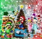 2012 Mario Christmas Background
