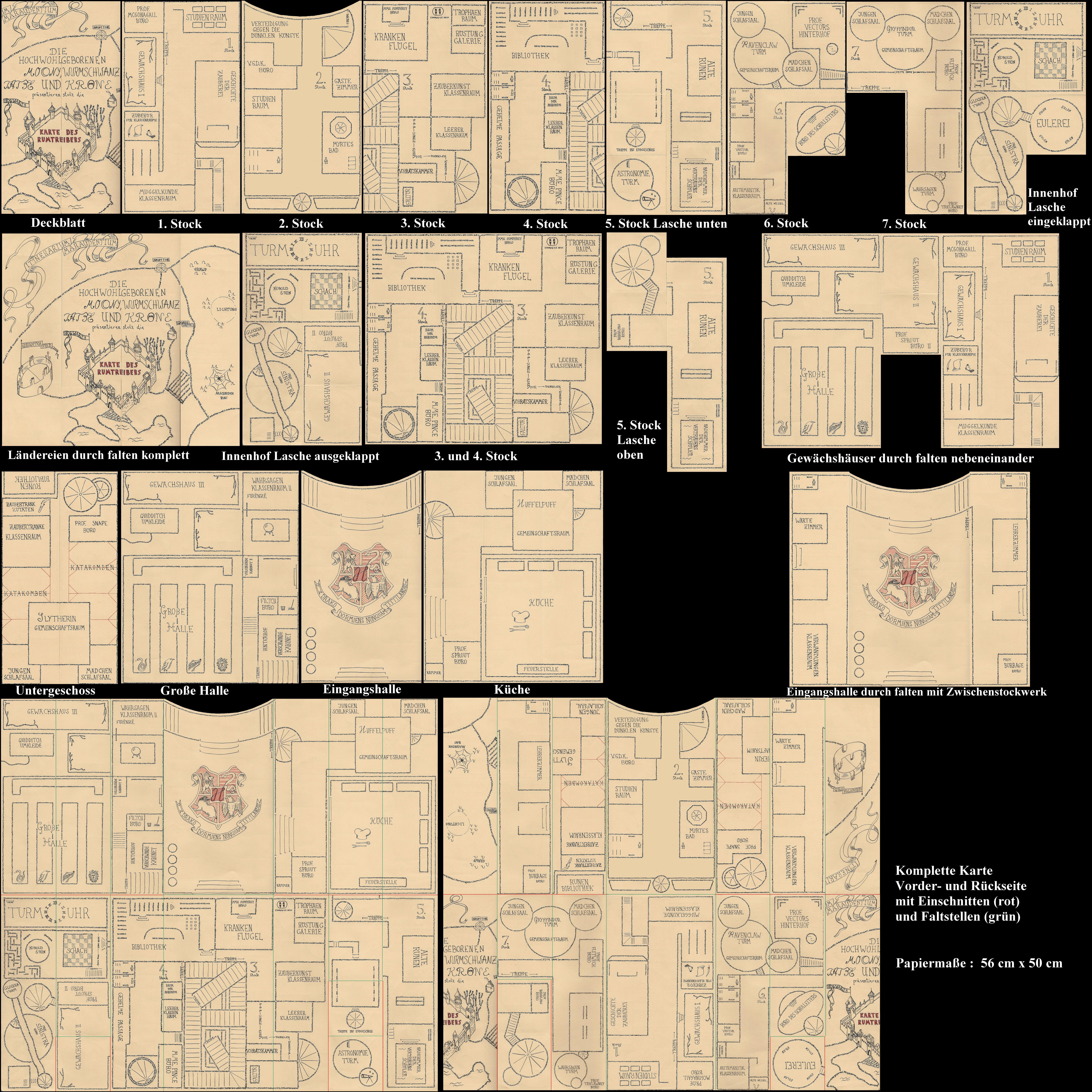 Карта мародеров своими руками шаблон