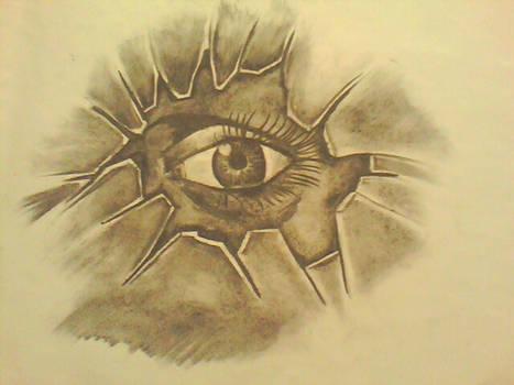 Eye thru glass..