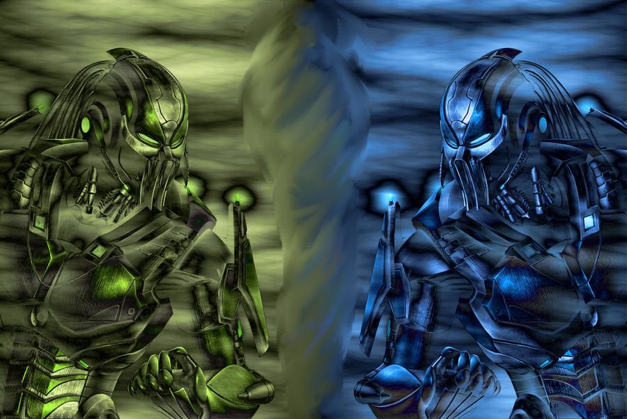 Robo Reptile VS. Robo Sub-Zero by ShaggySmurf on DeviantArt