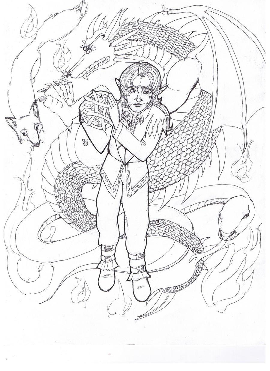 Loki Dragon Coloring Page By Daggerravionfall On Deviantart