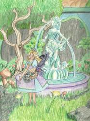 Sigyn in the Garden by DaggerRavionFall