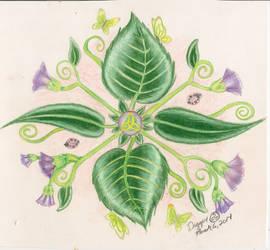 Leaf Mandala by DaggerRavionFall