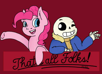 Request:STORMERS-ATTITOONS: PinkiePie and Sans by SoloSketcher