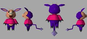 3D Pig Cow 2 Sides