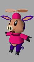 3D Pig Cow 2 With Hat by kevin42135