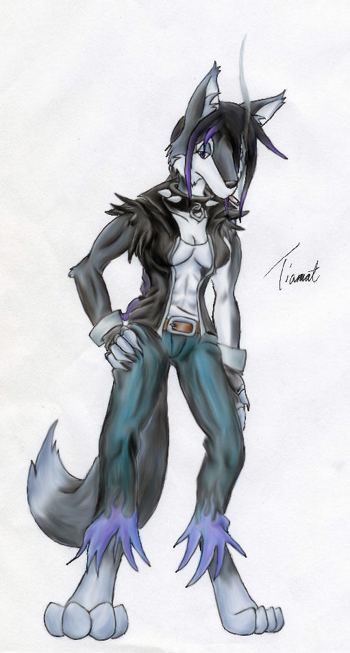 Anthro Wolf Female Anthro wolf me by