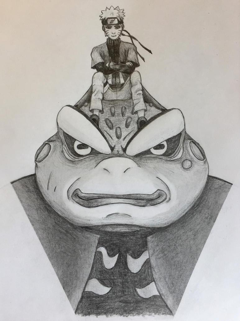 Naruto and Gamakichi by Hobbscotch