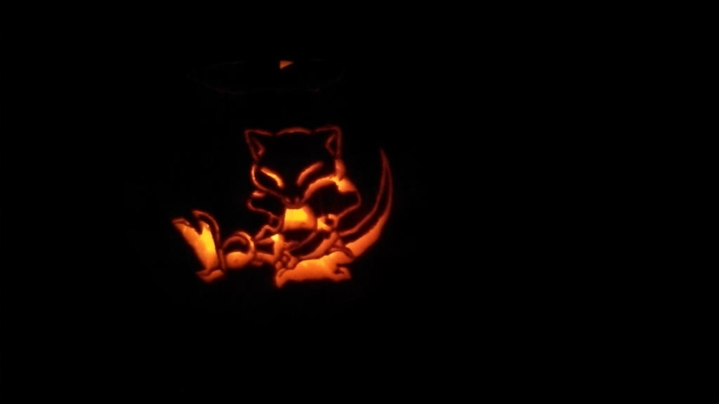 Abra Pumpkin by skimtaru
