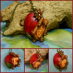 Mulled Wine Polymer Clay Pendant