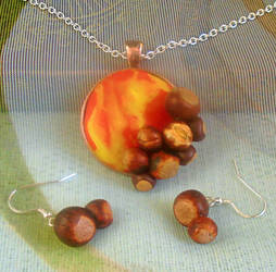 Chestnut Jewellery Set by aldcord