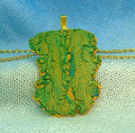 Abstract Polymer Clay Pendant