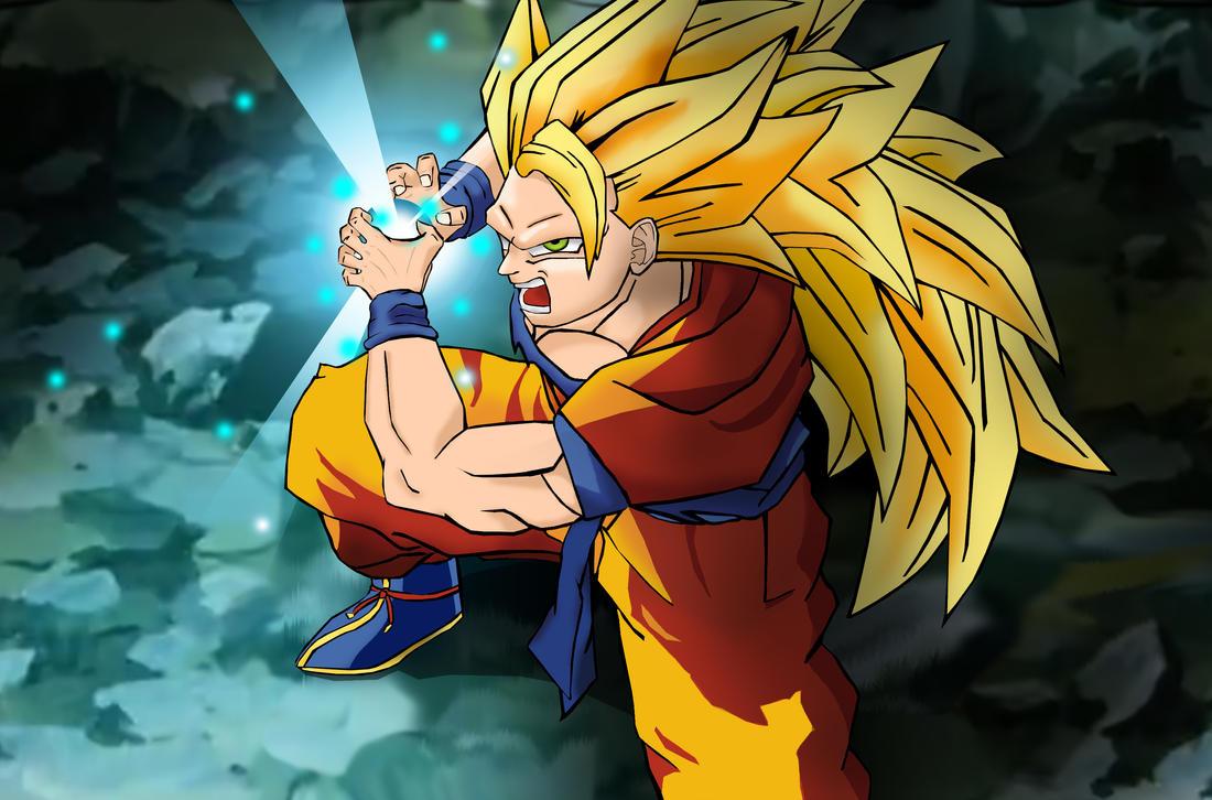 Super saiyan 3 goku kamehameha by westbrionage on deviantart - Sangohan super saiyan 3 ...