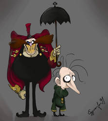 Dr Eggman and Snively but it's Tim Burton