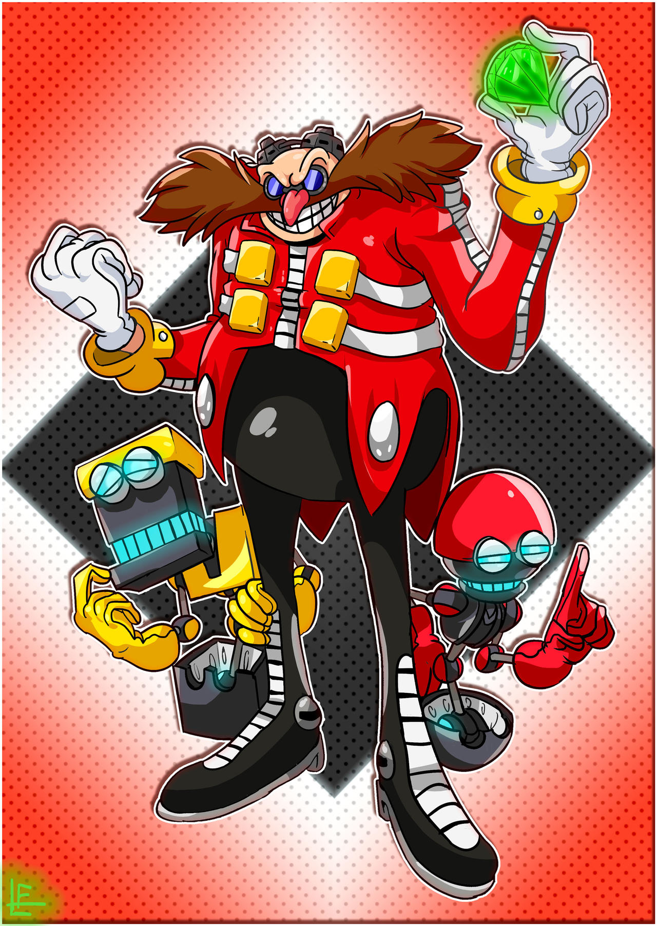 Sonic The Hedgehog Dr Eggman Orbot And Cubot By Eggmanfan91 On