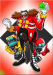 Sonic the Hedgehog : Dr Eggman, Orbot and Cubot