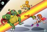SSB Ultimate : K.Rool vs Isabelle and Inkling girl