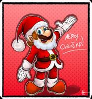 Super Mario Odyssey : Santa Mario by EggmanFan91