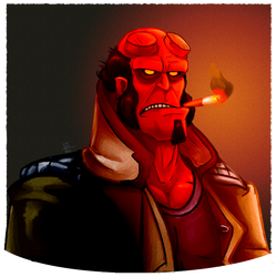 Hellboy by EggmanFan91