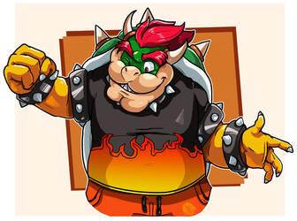 Mario Tennis : Bowser's new shirt by EggmanFan91