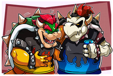 Mario Tennis : Bowser and Dry Bowser by EggmanFan91