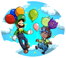 Luigi and Bow Kid